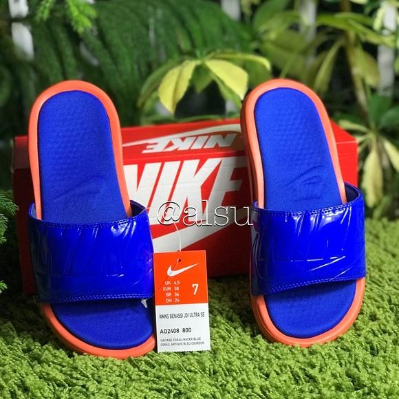 c7552bb35 NWT Nike Benassi JDI Ultra SE Racer Blue WMNS